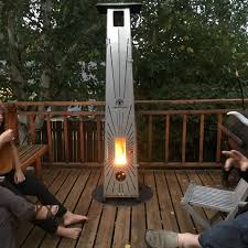 one of a kind wood pellet patio heater