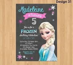 Elsa Invitation Frozen Chalkboard Invitation Frozen Invitaciones