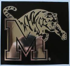 Licensed Ncaa Vinyl Window Decal University Of Memphis Tigers Chrome Tiger M 10 99 Picclick