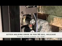pilot light on gas or propane fireplace