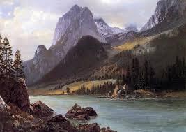 Albert Bierstadt Rocky Mountain 18 X27 Wall Decal Print Rustic Wall Decals By Art Megamart