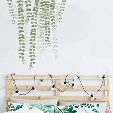 Amazon Com Pearls Vine Wall Decals Hanging Vines Branch Strings Wall Stickers Green Leaf Nature Art Wall Decor For Bedroom Living Room Arts Crafts Sewing