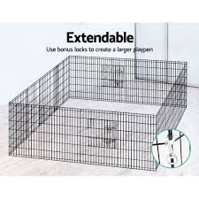 36 8 Panel Pet Dog Playpen Puppy Exercise Cage Enclosure Play Pen Fence Pet Wizard