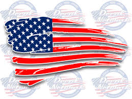 Novelty Decals Patriotic Decals And Graphics American Flag Shredded Waving Decal Custom Vinyl Decals Vehicle Graphics Window Sticker