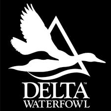 White Window Decal Delta Waterfowl