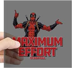 Amazon Com Cafepress Deadpool Maximum Effort Square Sticker 3 X 3 Square Bumper Sticker Car Decal 3 X3 Small Or 5 X5 Large Home Kitchen