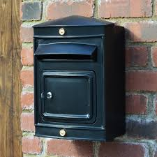 the sheffield narrow post box black