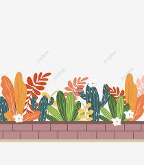 Fence Garden Tile Plant Leaf Flower Flowers Png Transparent Clipart Image And Psd File For Free Download