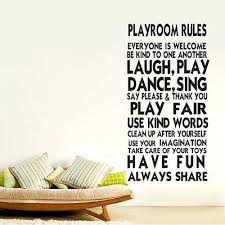 Wall Stickers Playroom Rules New Family Decal Removable Art Vinyl Decor Kids Ebay