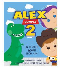 Invitacion Cumpleanos 3 Amigos Toy Story Oh Yupi Yei
