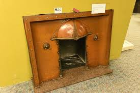 arts and crafts copper fireplace insert