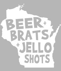 Funny Wisconsin Decal Teeslanger