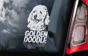Goldendoodle On Board Car Window Sticker Golden Doodle Dog Etsy