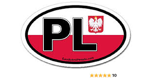 Amazon Com Poland Pl And Polish Flag Car Bumper Sticker Decal Oval Arts Crafts Sewing