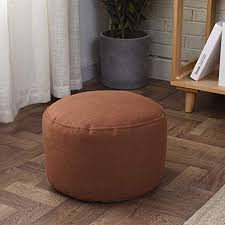 Amazon Com Zaipp 2 Pack Pouf Ottoman Solid Color Footstool Bean Bag Floor Chair Comfortable Foot Rest Pouffe Removable For Living Room Bedroom Kids Room Nursery Brown 35x22cm 14x9inch Home Kitchen