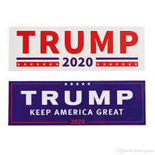 2020 Donald Trump 2020 Car Stickers Bumper Sticker Keep Make America Great Decal For Car Styling Vehicle Paster Novelty Items 2 Styles From Home Goods 1 39 Dhgate Com
