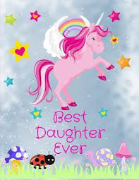 best daughter ever unicorn friends notebook journal sketchbook