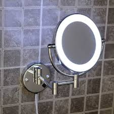 brass cosmetic makeup mirror led light