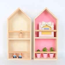 Wooden Children Kids Bedroom Decorative House Shelf Nordic Living Room Wall Decor Floating Shelves Organizer Dollhouse Bookcase Decorative Shelves Aliexpress