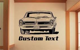 1965 Pontiac Gto Car Muscle Car Decals Muscle Car Sticker Automobile Decal Sport Car Wall Decal Automobile Stick Sticker Wall Art Vinyl Wall Vinyl Wall Art