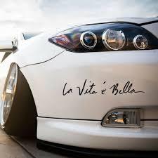 1xdiy Car Vinyl Sticker Life Is Beautiful La Vita E Bella Styling Quote Decal Ebay