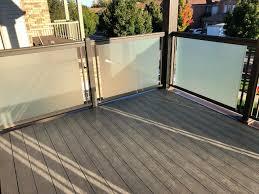 etched glass balcony railings