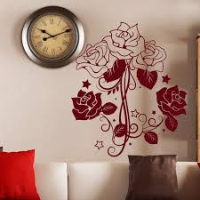 Shop Wall Decal Flower Roses Design Decals For Florists Bedroom Bathroom Vinyl Stickers Decor Red Overstock 11180405