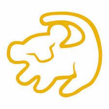 Lion King Simba Symbol 4 Disney Decal Sticker Car Window Laptop Vinyl Rafiki Ebay