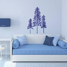 Navy Pine Trees Interior Decor Wall Art Sticker Decal By Catcoq Kismet Decals