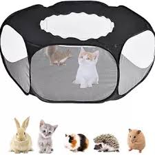 Small Animal Playpen Foldable Pet Cage With Top Cover Anti Escape Breathable Indoor Outdoor Yard Fence For Kitten Puppy Guinea Pig Rabbits Hamster Ect Lazada Ph
