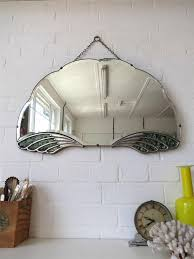 bevelled edge wall mirror lovely fan