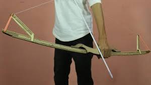 how to make a cardboard bow arrow
