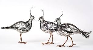 3D Wire Bird Sculptures Look Incredibly Like 2D Drawings