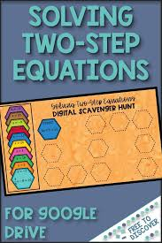 solving two step equations digital
