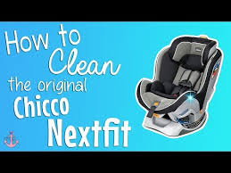 how to clean an original chicco nextfit