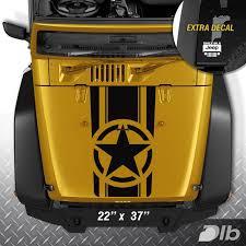 Jeep Wrangler Tj Lj Jk Star Military Stripes Vinyl Hood Decal Sticker Car Truck Oracal651 Jeep Wrangler Tj Jeep Stickers Jeep Wrangler Stickers