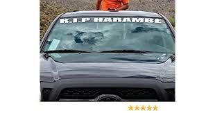 Car Truck Graphics Decals Motors Rip Harambe Vinyl Car Decal Sticker Banner Megeriancarpet Am