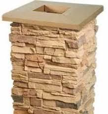 Faux Stone Column Post Wraps Sand Wall Decor Stickers Amazon Com