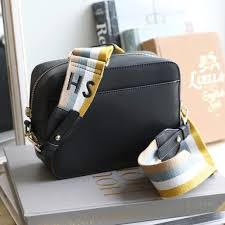 leather cross bag with personalised