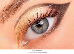 poster eye woman stock photos and