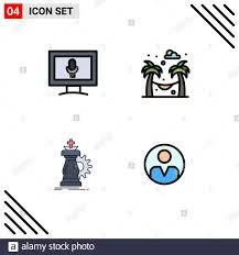 Pictogram Set of 4 Simple Filledline Flat Colors of monitor, knight, hammock,  strategy, personal Editable Vector Design Elements Stock Vector Image & Art  - Alamy