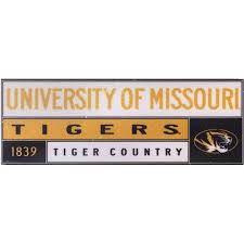 The Mizzou Store Mizzou Tiger Country Black Gold Sticker