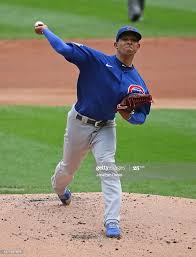 Starting pitcher Adbert Alzolay of the Chicago Cubs delivers the ball...  News Photo - Getty Images