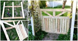 diy pallet garden fence gate easy