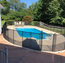 Pool Fence Southern Vt Pool Safety Fence Installations Southern Vermont Removable Mesh Pool Fence