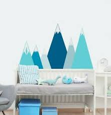 Mountains Wall Decals For Nursery Adventure Wall Decor Kids Room Sticker Fs10 Ebay
