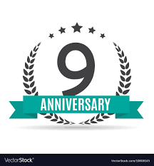 Template Logo 9 Years Anniversary Royalty Free Vector Image