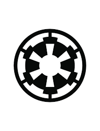 Star Wars Imperial Empire Symbol 3 In 5 In Logo Vinyl Decal Car Decal Window Decal Star Wars St Star Wars Symbols Star Wars Empire Logo Star Wars Empire