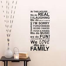 Aw9452 In This House Quote Wall Decals House Rules Removable Vinyl Decals Wall Stickers Family Rules Letter Wall Stickers Love Wall Decals From Fst1688 7 9 Dhgate Com