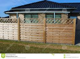 Wooden Fence Terrace Fence Wooden Fence With Privacy Lattice Screen Stock Photo Image Of Modern Terrace 124008122